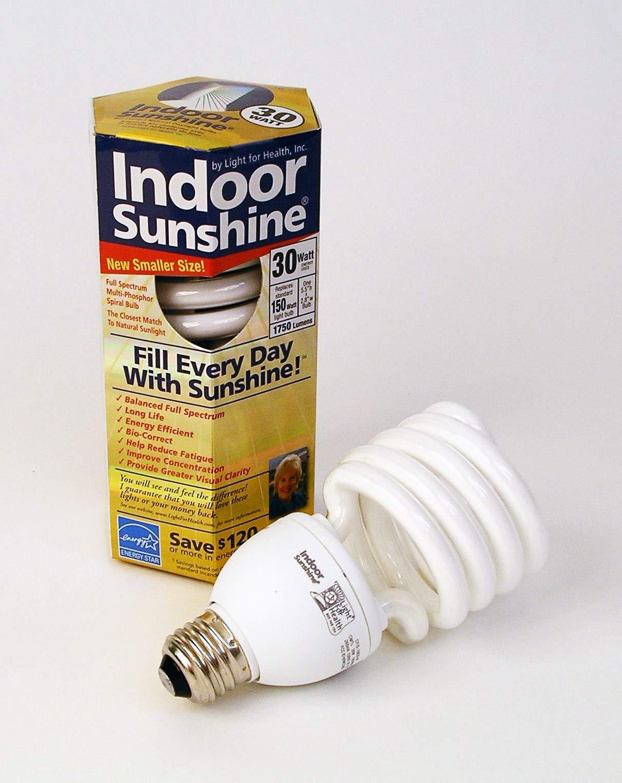 Indoor Sunshine: Single 30-watt Spiral Bulb