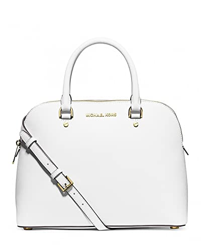 8b9cc05e503f MICHAEL Michael Kors Cindy Large Dome Satchel OPTIC WHITE: Handbags:  Amazon.com