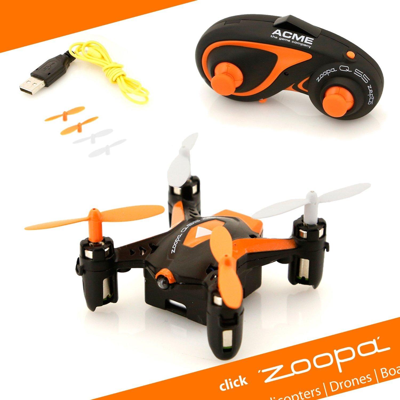 zoopa Q 55 Zepto - 6-Axis Gyro RC Mini Quadcopter Drone | 2.4GHz | 360° flip-Mode ZQ0055-US