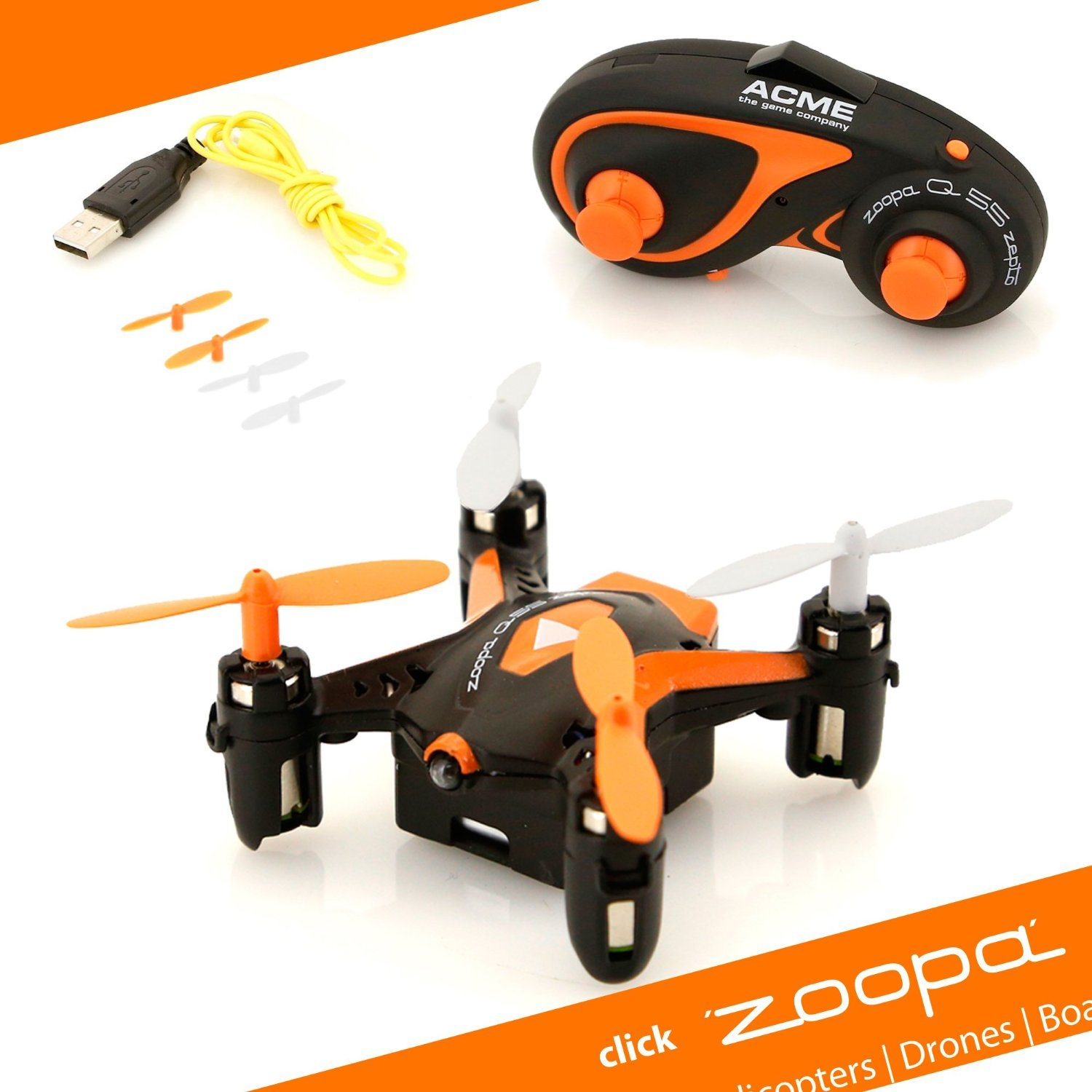 Zoopa Q 55 Zepto - 6-Axis Gyro RC Mini Quadcopter Drone | 2.4GHz | 360° flip-mode