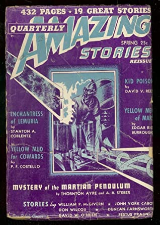 AMAZING STORIES QTLY-SPG 1942--ED RICE BURROUGHS--PULP G at