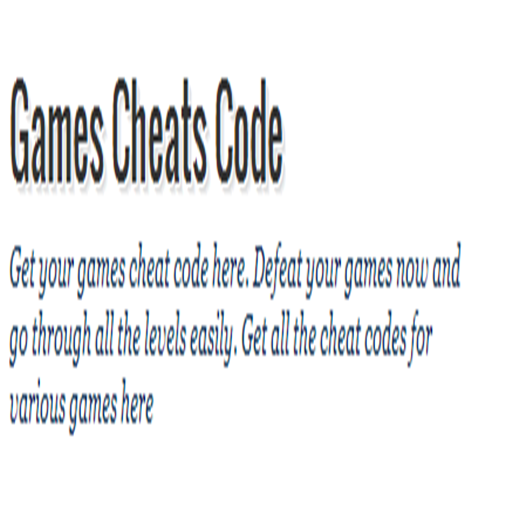 Games Cheat Code (Cheat Codes Of Gta San Andreas For Android)
