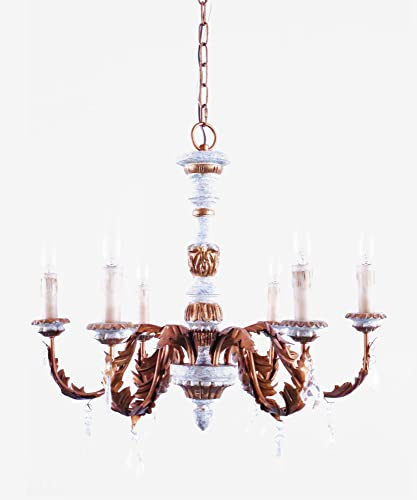 European Royal Style Wood Chandelier