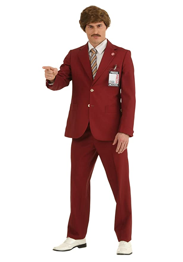 60s -70s  Men's Costumes : Hippie, Disco, Beatles Adult Authentic Ron Burgundy Costume Mens Legendary Anchorman Costume $149.99 AT vintagedancer.com