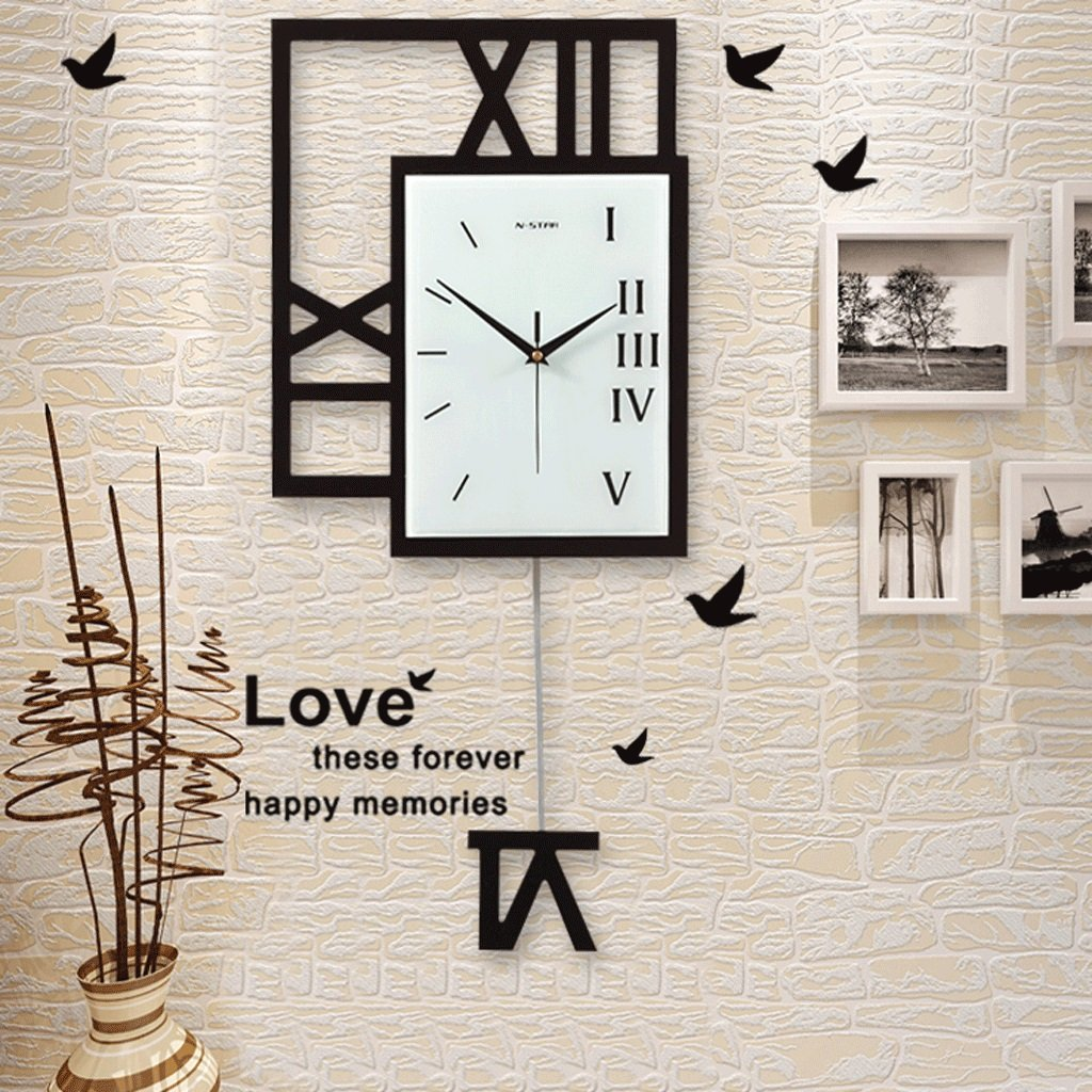 ノルディックファッション時計ウォールクロックリビングルームのアイデアスイングウォールチャートパーソナライズされたベッドルームクォーツ時計ミュート装飾的な壁時計 (サイズ さいず : 40x93cm(16x37inch)) B07F9DX3M140x93cm(16x37inch)