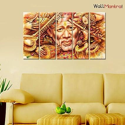 Amazon Com Wallmantra Sai Baba Indian Religious Wall Painting 5