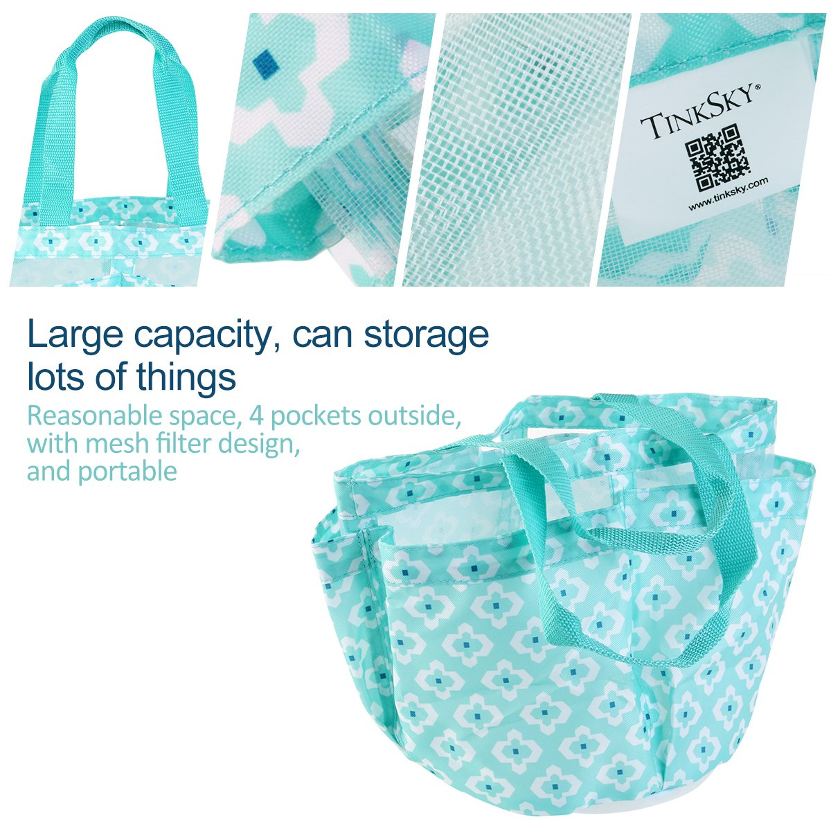 Amazon.com: TINKSKY Shower Tote Caddy Quick Dry Organizer for ...