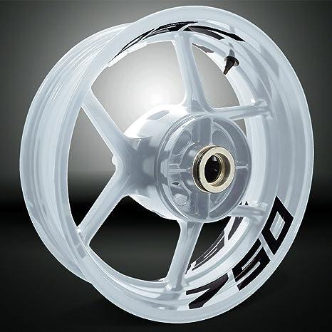Amazon.com: Gloss Black Motorcycle Inner Rim Tape Sticker ...