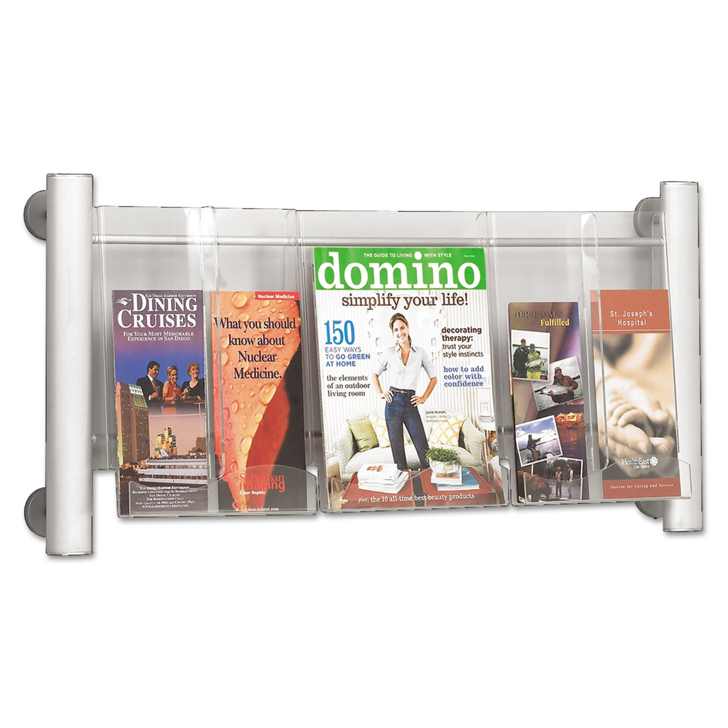 Safco Luxe Magazine Rack, 9 Pocket (4134SL) Safco Luxe Magazine Rack Safco Products