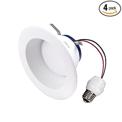 Cree DRDL6-11027009-12DE26-1C110 6 In. TW Series 85W Equivalent High Brightness Soft White (2700K) Dimmable Led Retrofit Recessed Downlight (4-Pack) ...