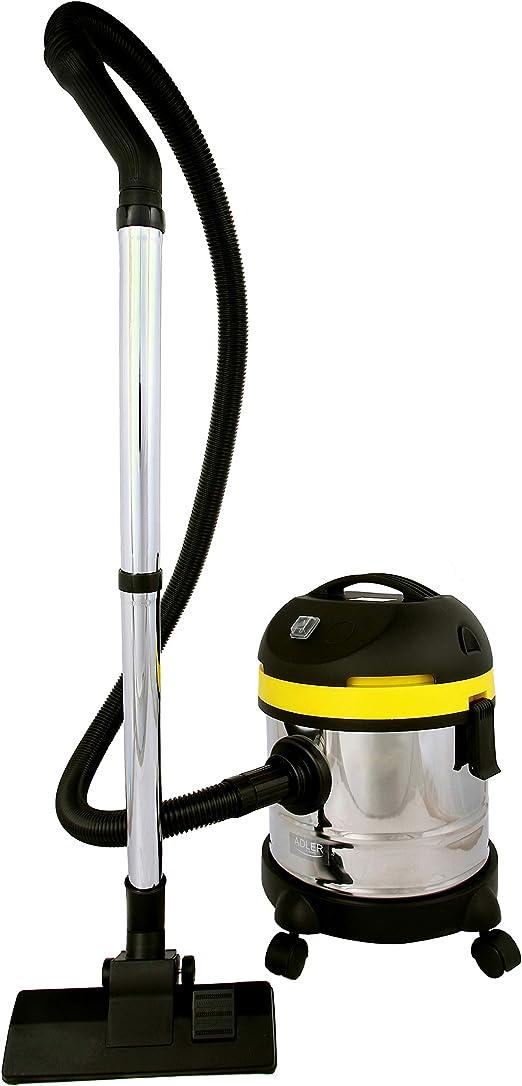 Adler AD7022 Aspiradora En Seco con Filtro de Agua, 1500 W, 20 litros, Acero Inoxidable: Amazon.es: Hogar