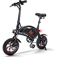 urbetter Bicicleta Electrica Plegable, Batería 36V 10Ah, 40-60 Km Alcance, 25 Km/h, 3 Modos de Conducción, Ruedas de 12…