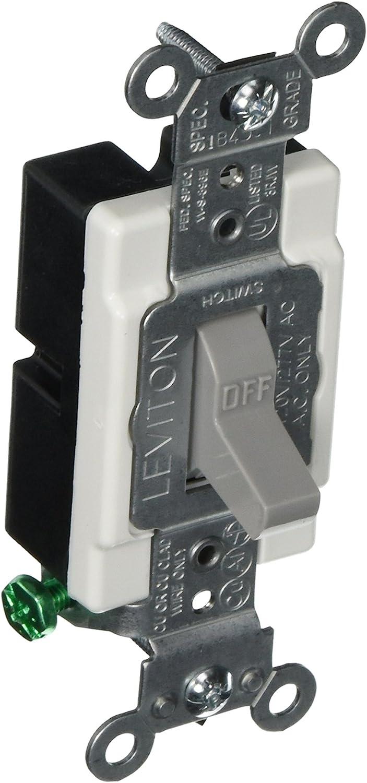 Leviton CS115-2GY, Gray - Wall Light Switches -