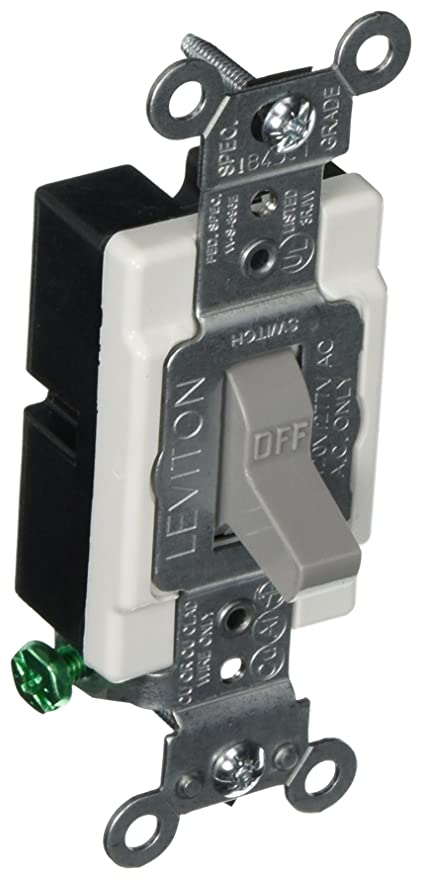 Leviton CS115-2GY 15 Amp, 120/277 Volt, Toggle Single-Pole Ac Quiet ...