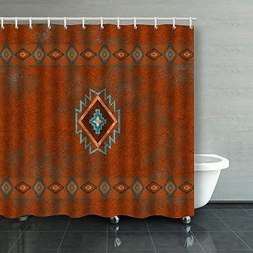 Family Unique Decorative Custom Xmas Shower Curtains Southwest Canyons  Diamond Waterproof Polyester Fabric Home Decor Bath