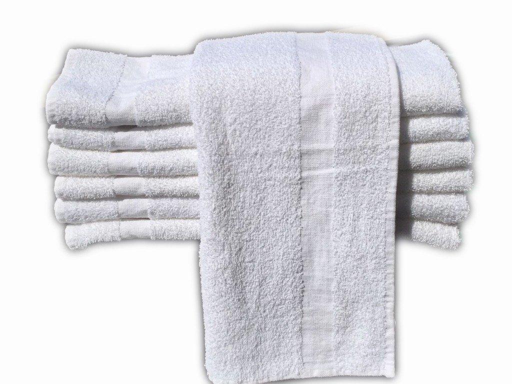 GOLD TEXTILES 36 PCS New White 20X40 100% Cotton Economy Bath Towels Soft & Quick Dry (3 Dozen)