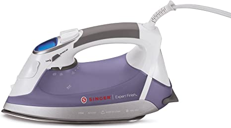 Singer| Expert Finish 1700 Watt Anti-Drip Steam Electronic Flat Iron with Brushed Stainless Steel Soleplate, LCD Electronic Settings and Smart Auto-Off Steam Irons at amazon