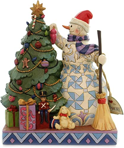 Enesco Jim Shore Heartwood Creek Snowman Decorating Tree Figurine