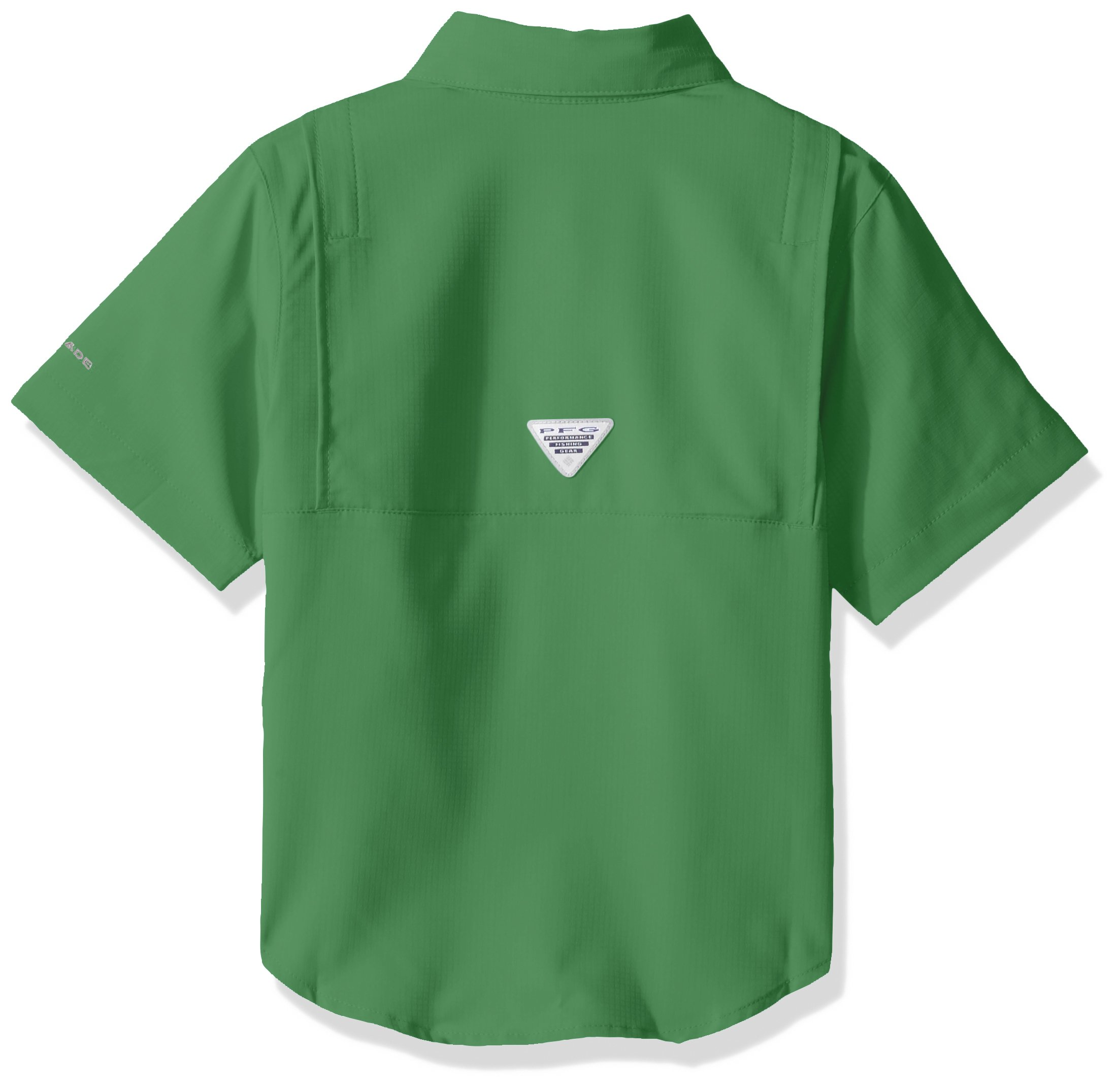 Columbia Boys Tamiami Short Sleeve Shirt, Emerald City, Large by Columbia (Image #2)