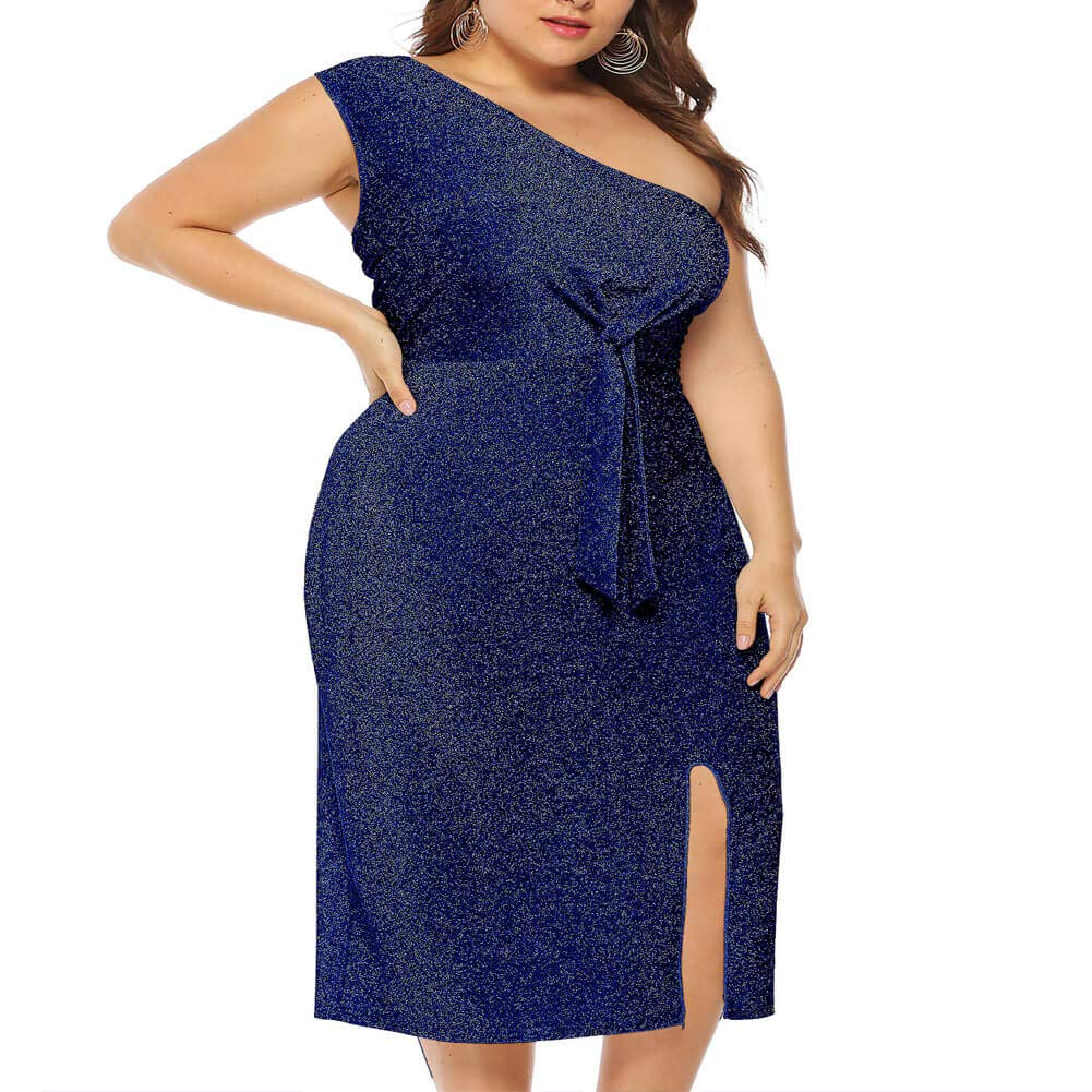 60s 70s Plus Size Dresses, Clothing, Costumes Holagift Women Sequin Maxi Dress Plus Size Sparkly Ruched Split Slit Party Evening Bandage Stretchy Bodycon Dresses $28.98 AT vintagedancer.com