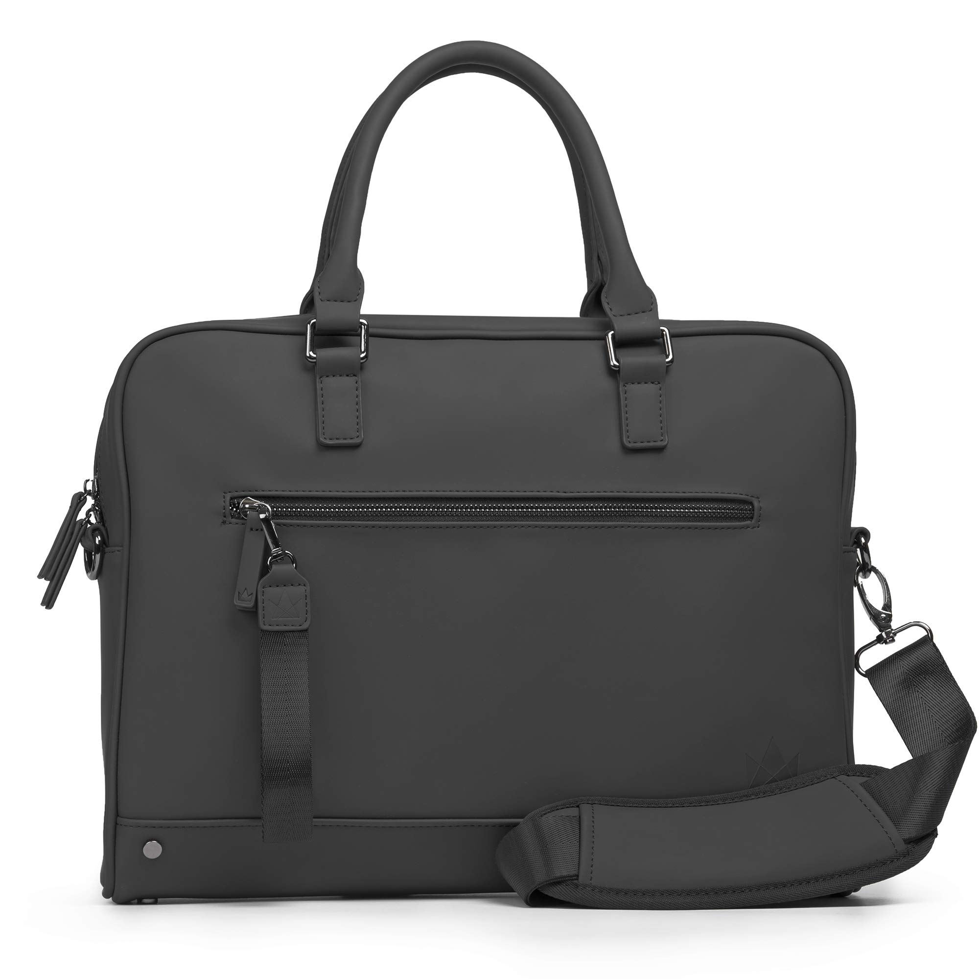 The Friendly Swede 13 inch Slim Laptop Bag for Women and Men - Shoulder Strap, Minimalist Notebook Executive Computer Case Business Briefcase, Vegan PU - VRETA