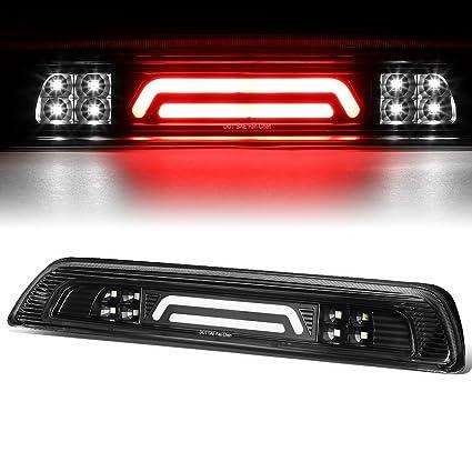 For 07-18 Tundra 3D LED Bar 3rd Third Tail Brake Light Rear Cargo Lamp  (Black/Clear)