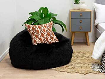Super Buy New Born Baby Bean Bag Kids Bean Bag Bad Black Furry Caraccident5 Cool Chair Designs And Ideas Caraccident5Info