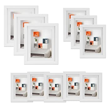 Voilamart Multi Picture Photo Frames Wall Set, DIY Home Wall Mount ...