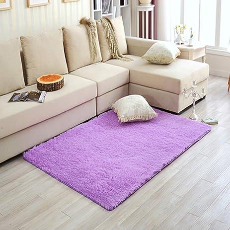 LianLe Long Plush Shaggy Soft Carpet Area Rug, Anti Slip Floor Mat For  Bedroom