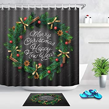 Amazon.com: LB Green Christmas Garland Ring Christmas Tree ...