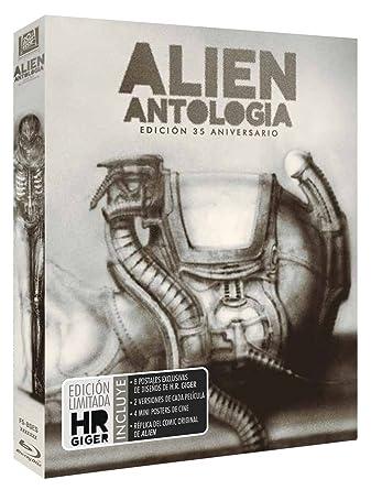 Alien 1-4 - Bd (6) [Blu-ray]: Amazon.es: Sigourney Weaver, Tom Skerritt, John Hurt, Michael Biehn, Carrie Henn, Charles Dutton, Charles Dance, Winona Ryder, Dominique Pinon, Jean-Pierre Jeunet, David Fincher, James Cameron, Ridley
