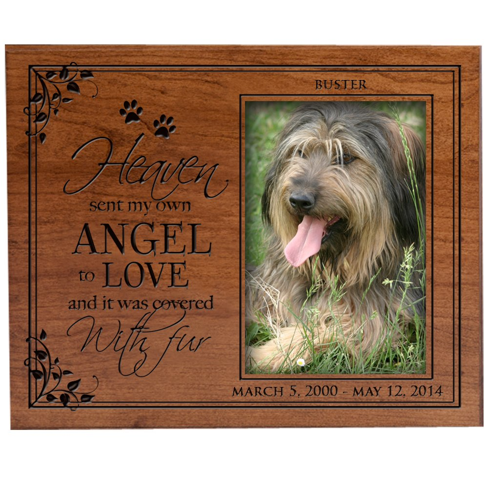 Amazoncom Personalized Pet Memorial Picture Frame With Paw Prints