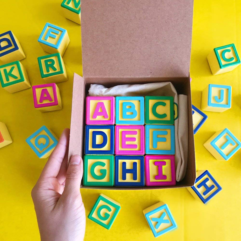 Montessori Toys for ABC Learning | Smart Alphabet Blocks for Interactive Educational iPad Games for Preschool & Kindergarten | Learn English & Spanish | Toddlers & Kids 1-6 | Includes 5 Free Apps by AlphaTechBlocks (Image #9)