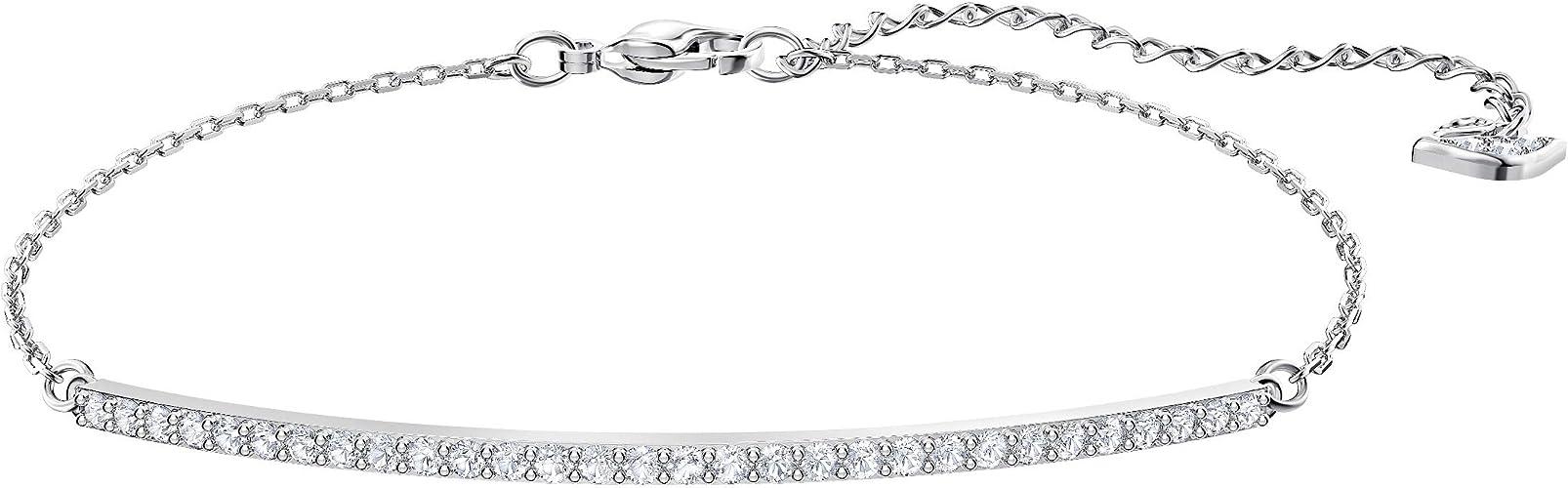 Bracelet Swarovski Only, cristal blanc, métal rhodié, pour femme