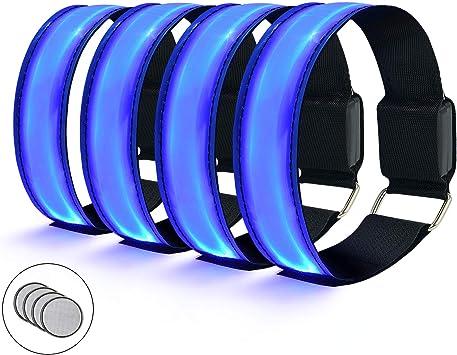 flintronic Led Armband, 4 Pieza Banda Reflectante, Brazalete LED ...