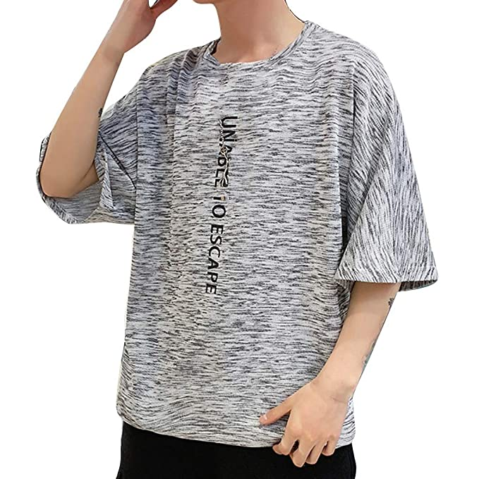 036b9416681 Image Unavailable. Image not available for. Color  Pandaie Mens Blouse  Shirts Men s New Summer Casual Grapheme Printing Loose Sports Short Sleeve  ...
