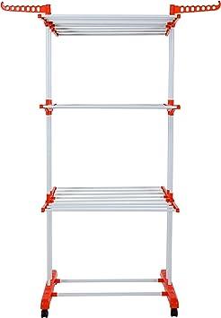 Herzberg HG-8034ORG: Moving Clothes Rack - Orange: Amazon.es: Deportes y aire libre
