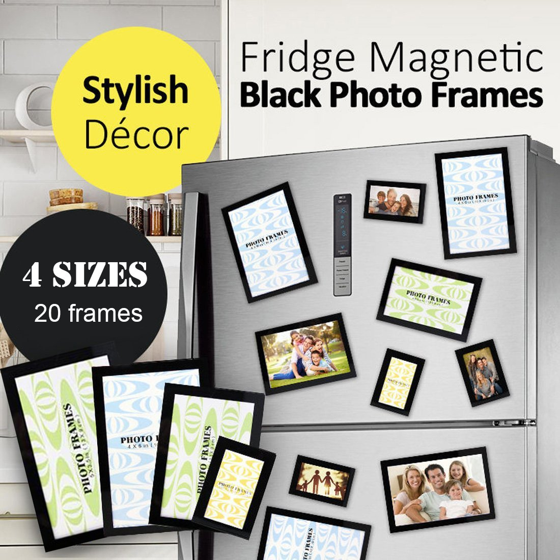 Magnetic Picture Frame, Photo Collage for Refrigerator, Magnet Board ...