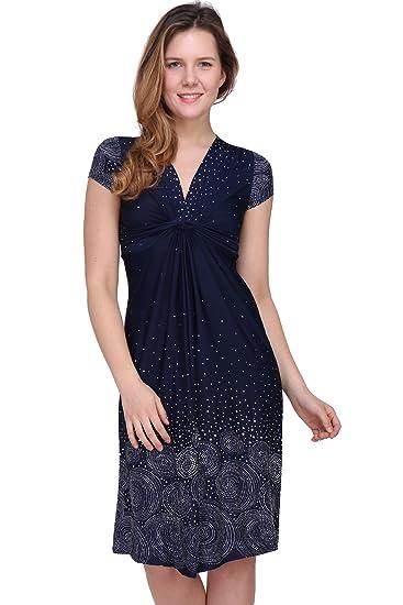 f925ac38f9f Revdelle - Made in France Robe avec Un nœud col en V Manches Courtes pour  Femme Agathe  Amazon.fr  Vêtements et accessoires