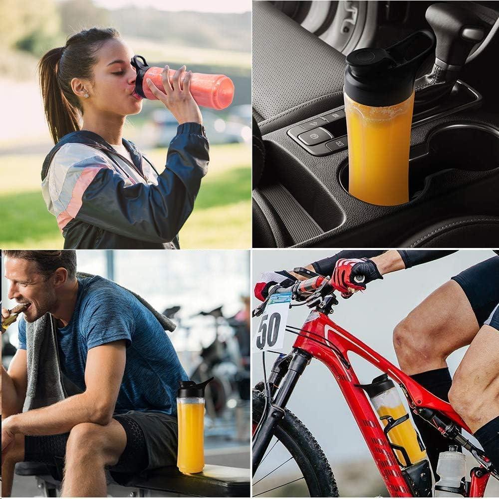 Zuhause Smoothie Maker Mini Standmixer Reise,Sport,350W mit 2 Sport-Flasche BPA frei Tritan B/üro Multifunktion Elektrisch Mixer Tragbar Blender f/ür Smoothies,Milkshake
