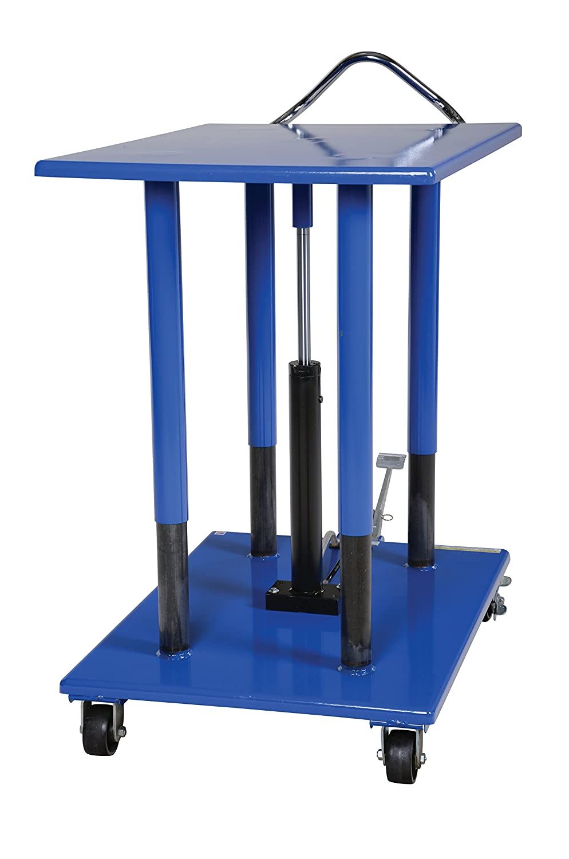 Vestil HT-20-3042 Steel Hydraulic Post Table 42 Length x 30 Width Platform 36-54 Height Range 2000 lbs Capacity