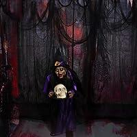 Panno Nero Raccapricciante, Decorazioni di Halloween spettrale, Halloween Haunted House Party Decoration Doorways All'aperto Forniture, 200cm×800cm