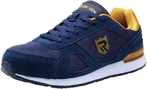 Amazon.com: LARNMERN Zapatos de acero para hombre, trabajo ...