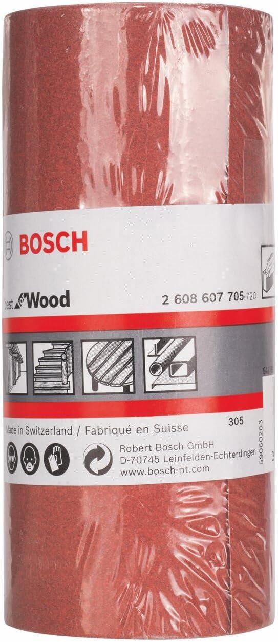 Bosch 2608607705 Ruban abrasif Bois 1 rouleau 115 mm x 5m Grain 240