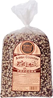 product image for Amish Country Popcorn | 6 lb Bag | Purple Popcorn Kernels | Old Fashioned with Recipe Guide (Purple - 6 lb Bag)