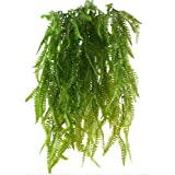 HUAESIN 2PCS artificiale da appendere Boston Ferns climbing falso vite piante piante pendenti in plastica Hanging Greenery piante per interni Outdside Planter wedding Decor