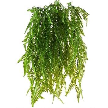 Huaesin 2 Pcs Farn Künstlich Kunstpflanzen Hängend Hängepflanzen