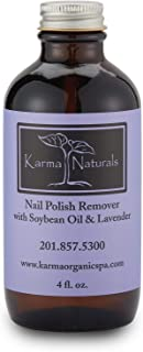 product image for Karma Organic Beauty Natural Soybean Lavender Nail Polish Remover - Non Toxic, Vegan, Cruelty Free, Acetone free – Nails Strengthener for Fingernails – 4 fl. Oz.