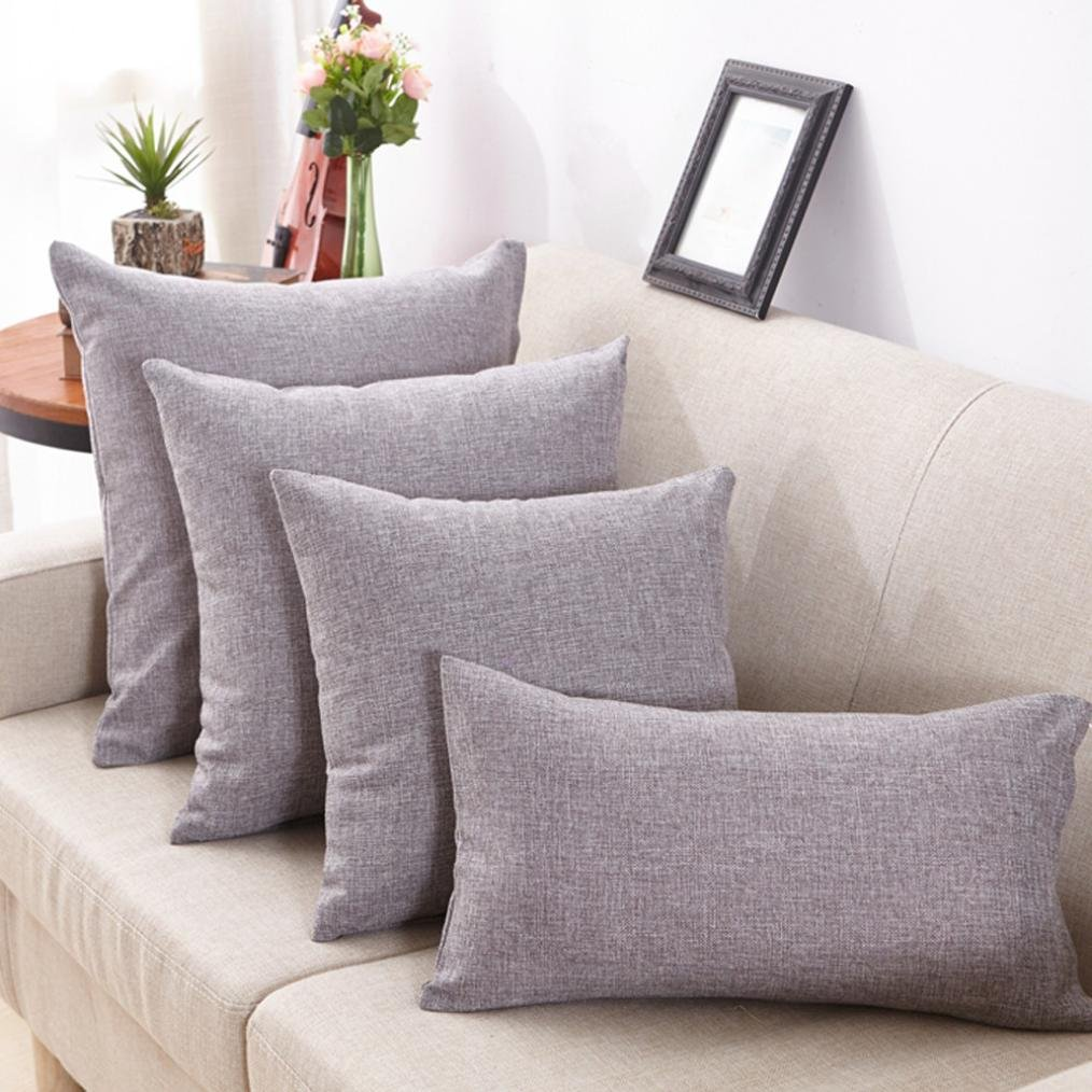 Blau B, 12 X 20 Kissenbez/üge erthome Einfache Mode Dekokissen Cases Cafe Sofa Kissenbezug Home Decor