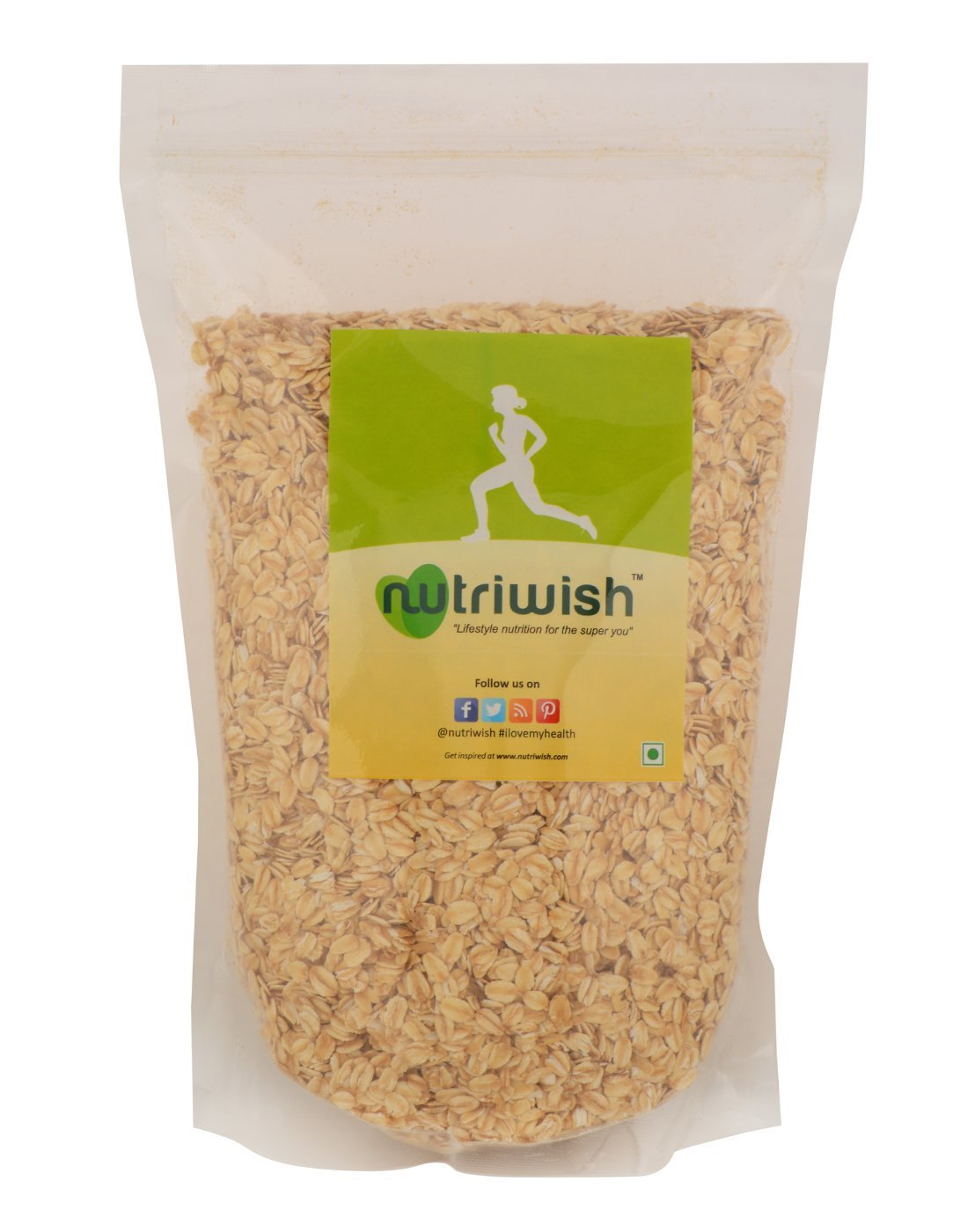Nutriwish Gluten-Free Rolled Oats 1.25 kg (Healthy Breakfast Food) by Nutriwish